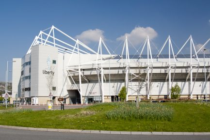 Swansea, Wales, UK - April 20th 2009: Liberty Stadium, Swansea, home of the Ospreys rugby union team and Swansea City football club