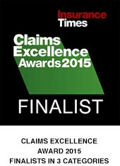 Claims excellence finalist 2015