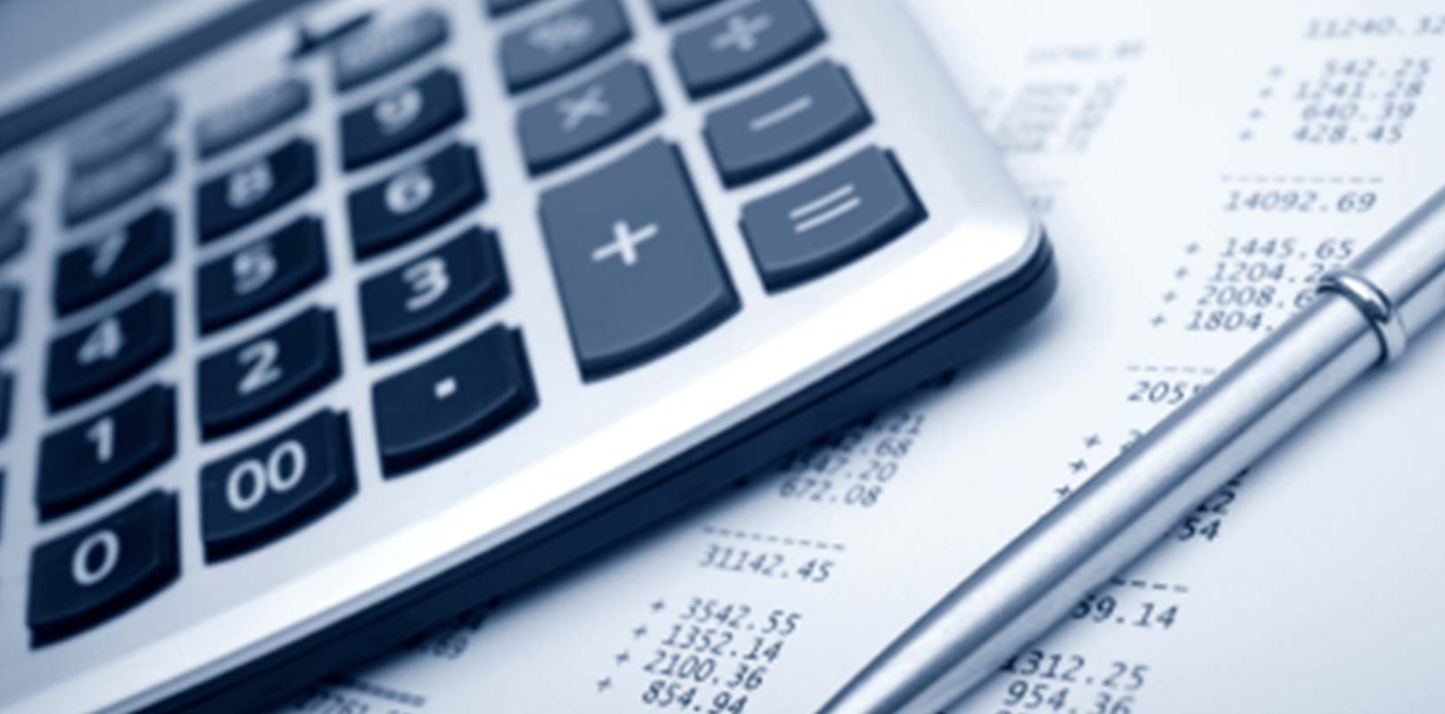 A calculator and finance documents